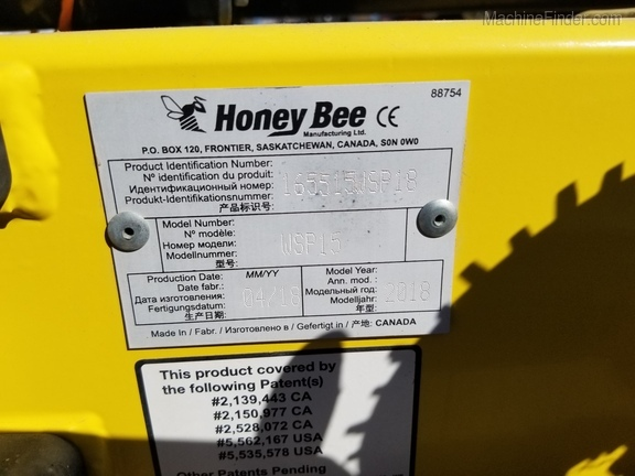 2018 Honey Bee WSP15 Image 20