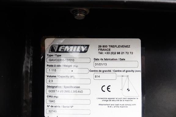 Emily Godet désileur EMILY OMEGA 260 - GAV01260