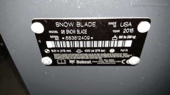 Bobcat 96 SNOW BLADE