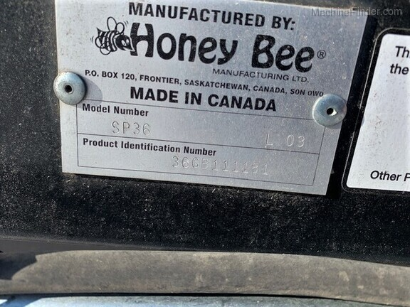 2011 Honey Bee SP36 Image 9