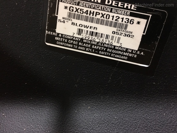 John Deere BM20668 54C PF BLOWER