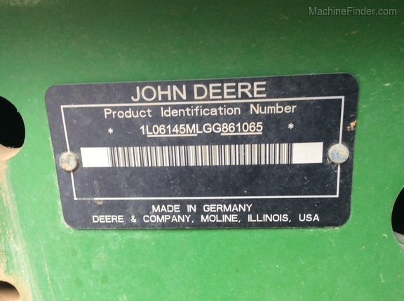 Photo of 2016 John Deere 6145M