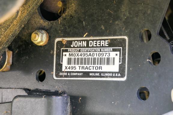 2002 John Deere X495-17