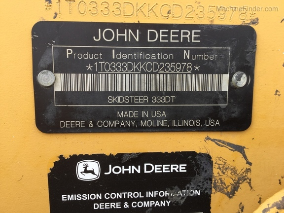 Photo of 2012 John Deere 333D