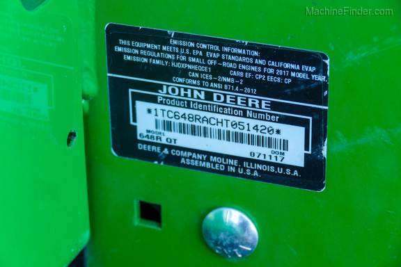 2017 John Deere 648R-18