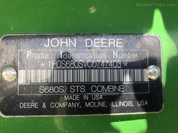 Photo of 2012 John Deere S680