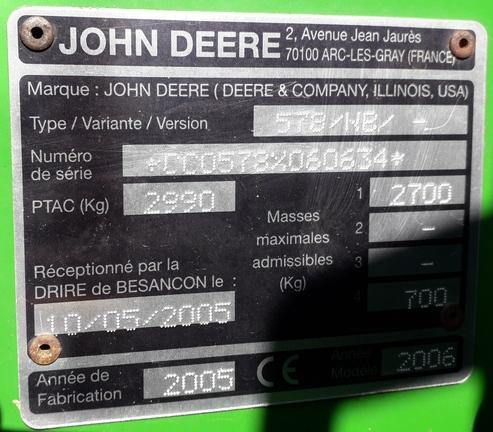 John Deere 578