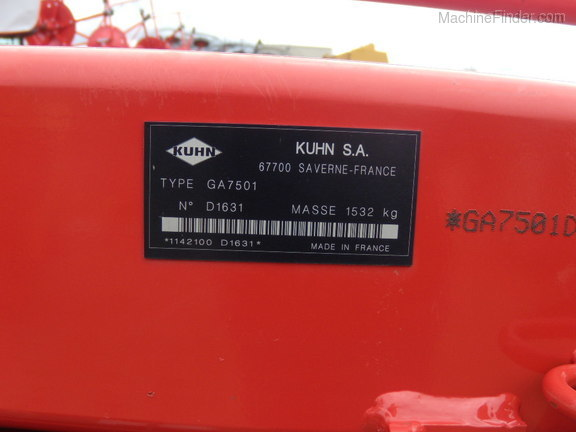 2016 Kuhn GA7501