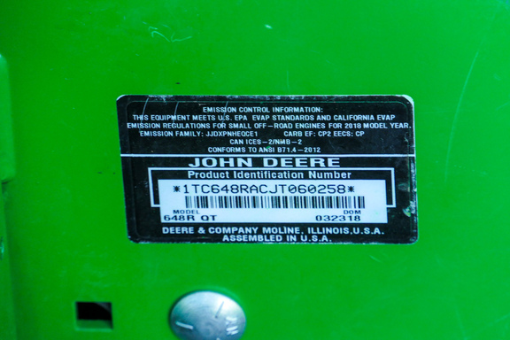 2018 John Deere 648R-15