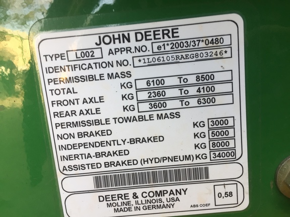 John Deere 6105r