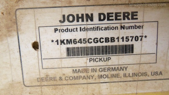 2011 John Deere 645C