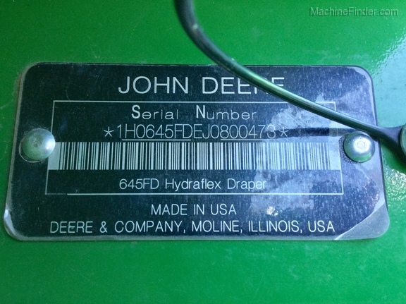 2018 John Deere 645FD