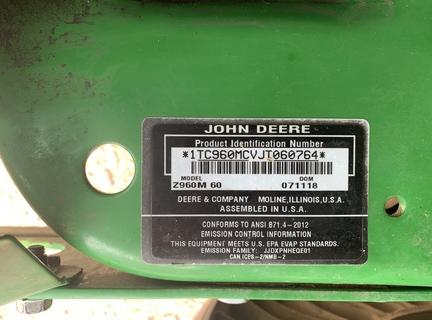 Photo of 2018 John Deere Z960M