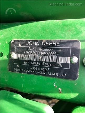 2016 John Deere 635FD