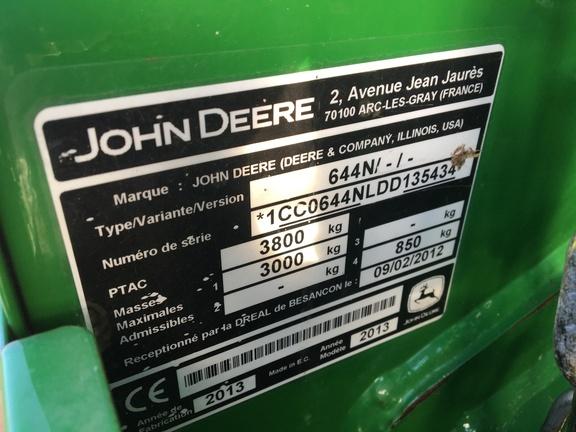 John Deere 644 Round baler
