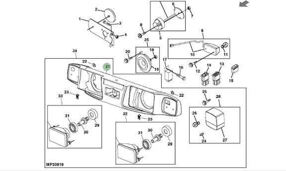 John Deere X700 Homologation Kit