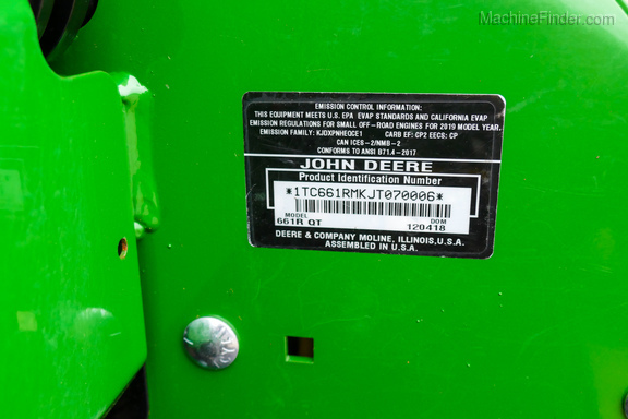 2019 John Deere 661R-23