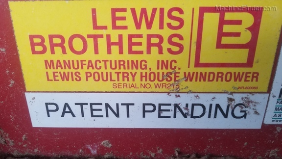 2014 Lewis Brothers POULTRY HOUSE WINDROWER