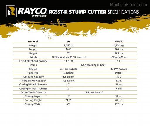 2020 Rayco RG55T-R TRAC
