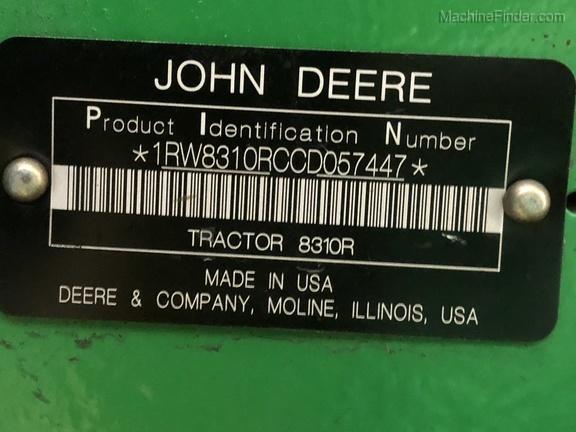 2012 John Deere 8310R图像21