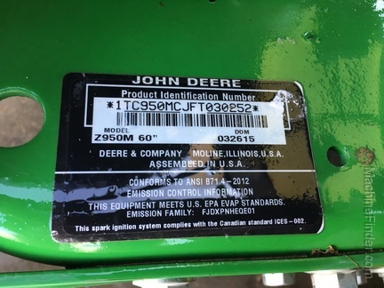 Photo of 2015 John Deere Z950M
