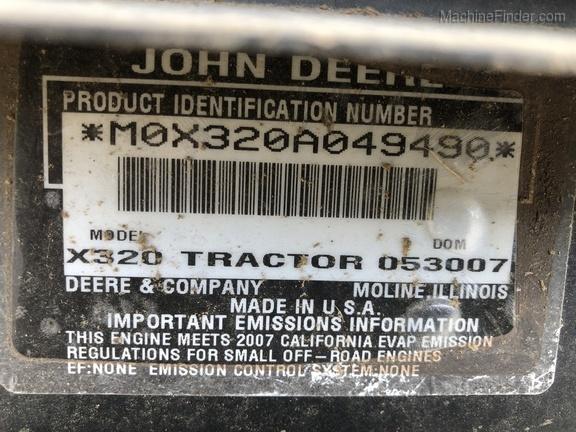 Photo of 2007 John Deere X320