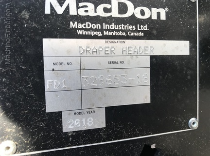 Photo of 2018 MacDon FD145