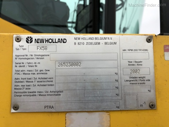 2002 New Holland FX58