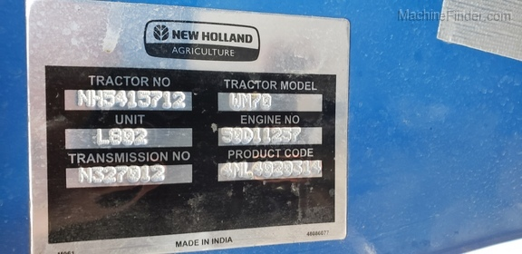 2018 New Holland Workmaster 70