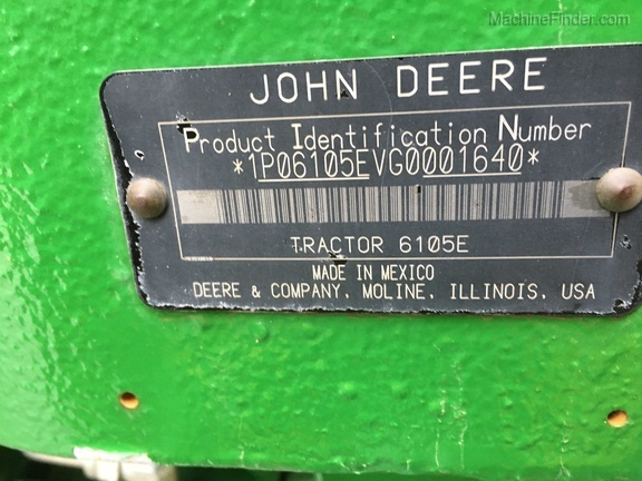 Photo of 2016 John Deere 6105E