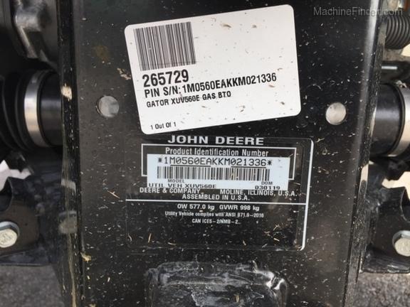 Photo of 2019 John Deere XUV560E