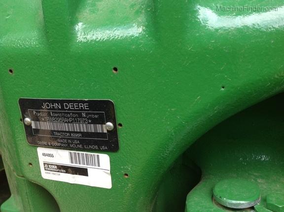 2017 John Deere 8295R