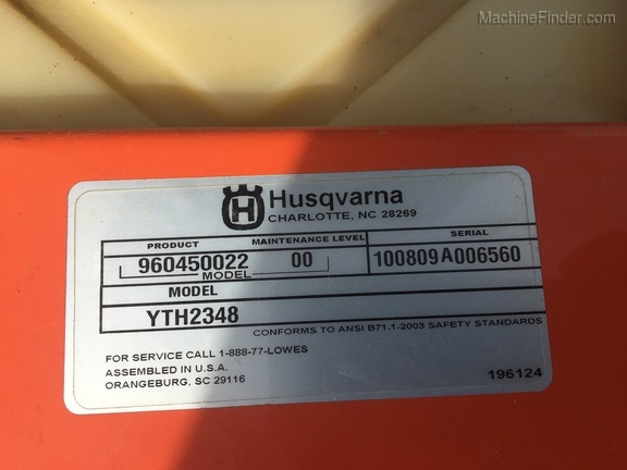 Photo of 2014 Husqvarna YTH2348