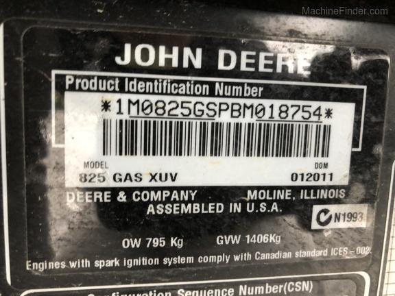 Photo of 2011 John Deere XUV 825I GREEN