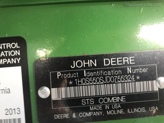 Photo of 2013 John Deere S550