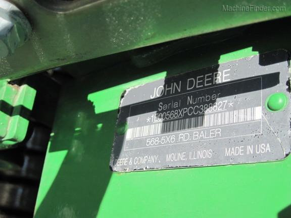 2012 John Deere 568