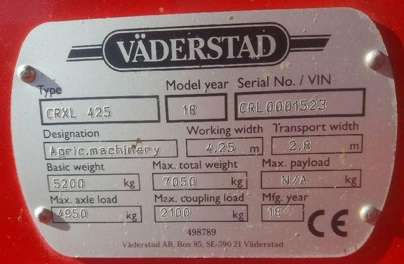 Vaderstad Carrier CRXL 425