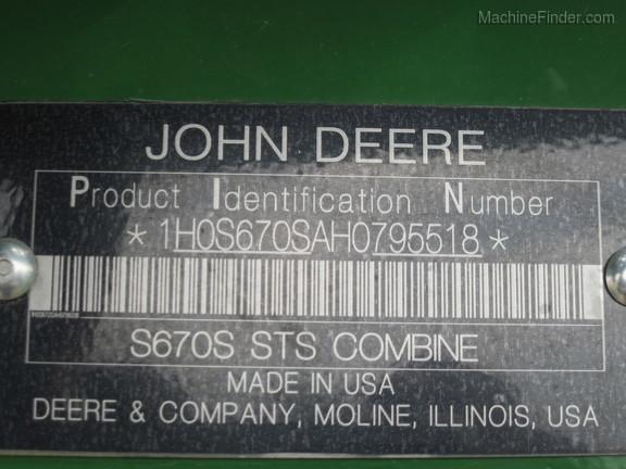 2017 John Deere S670