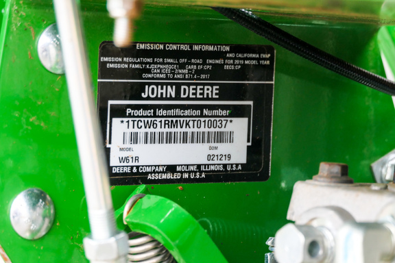 2019 John Deere W61R-15