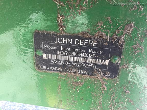 2017 John Deere W235 - Windrowers - Durant, OK