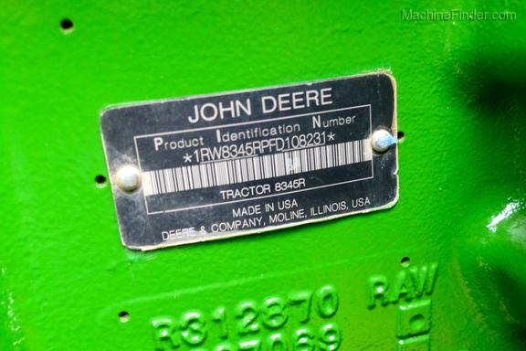 2016 John Deere 8345R-34
