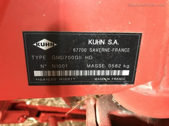 2012 Kuhn GMD700 Gll HD Image 11