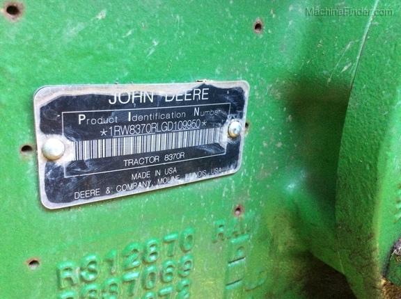 2016 John Deere 8370R