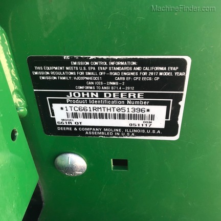 2017 John Deere 661R-5