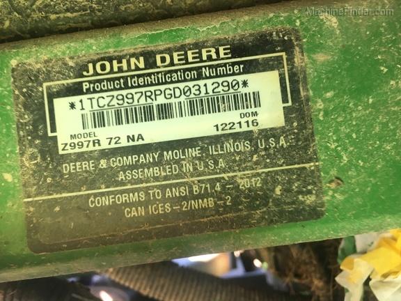 Photo of 2017 John Deere Z997R