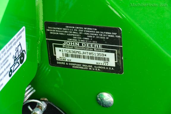 2017 John Deere 636M-18