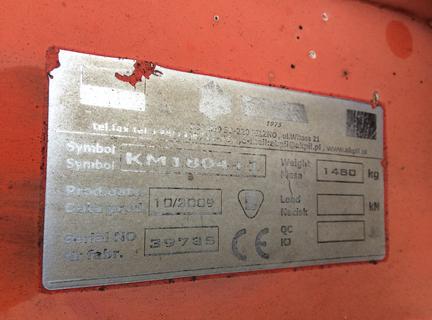 John Deere AKPIL KM180 4+1