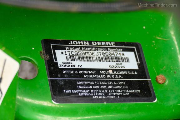 2018 John Deere Z950M-19