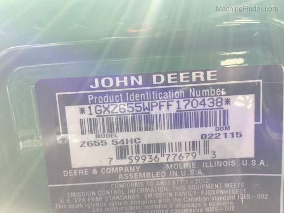Photo of 2015 John Deere Z655