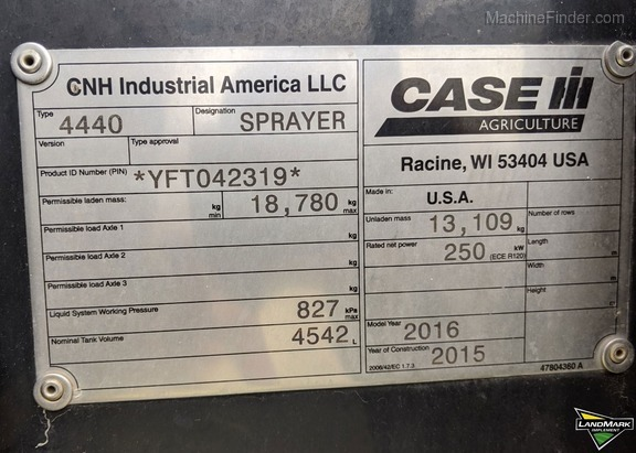 2016 Case IH Patriot 4440 Image 15